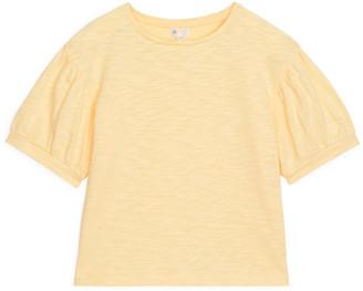 Arket Puff-Sleeve Slub Top