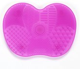 Thinkmax 1pc Makeup Cosmetic Soft Silicone Brush Cleaners Pad Cleaning Mat with Suction Cup Washing Tool