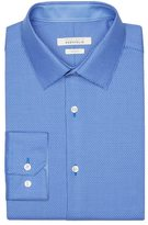 Perry Ellis Slim Fit Mini Dobby Dress Shirt