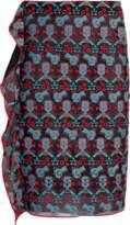 Emporio Armani Printed Maxi Slit Skirt