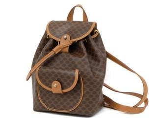 Celine Brown Leather Backpacks