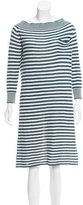 Louis Vuitton Striped Wool-Blend Dress