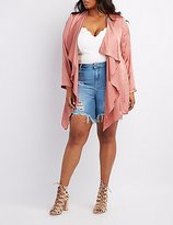 Charlotte Russe Plus Size Silky Draped Open Cardigan