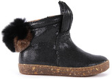 Ocra Zip-Up Boots with Pompom