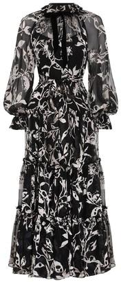 Zimmermann Ladybeetle Swing Long Dress in Black Mystic Eye