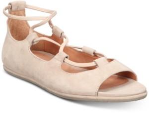 Gentle Souls by Kenneth Cole Women's Lark Peep-Toe Flats Women's Shoes