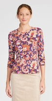 J.Mclaughlin Signature Tee in Paisley Bloom