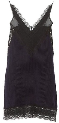 Burberry Knit Lace Slip Dress