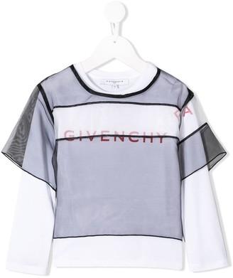 Givenchy Kids layered mesh T-shirt