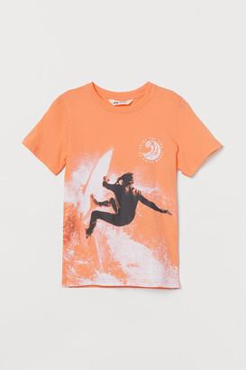 H&M Graphic T-shirt - Orange