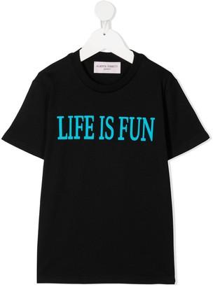 Alberta Ferretti Kids slogan print T-shirt