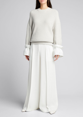 ADEAM Knit Ruffle-Cuff Sweater