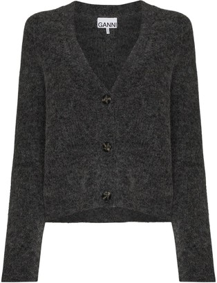 Ganni button-up V-neck cardigan