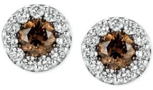LeVian Le Vian Chocolatier Diamond Stud Earrings (1 ct. t.w.) in 14k White Gold