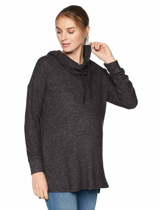 Motherhood Maternity Women's Maternity Cowl Neck Brushed Hacci Tunic