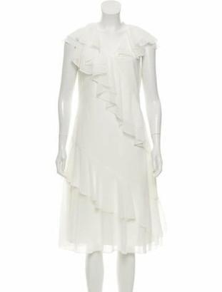 Prabal Gurung Ruffled Midi Dress