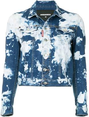 DSQUARED2 bleached denim jacket