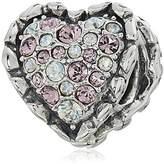 Chamilia Ruffled Heart Bead Charm