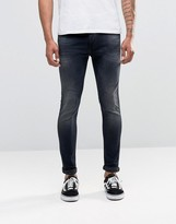 Replay Jondrill Skinny Jeans Power Stretch Dark Blasted Wash