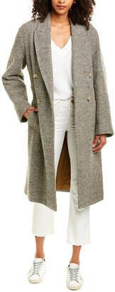 Vince Pebble Textured Wool-Blend Coat