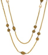 Chanel Gold Pearl & Gripoix Necklace