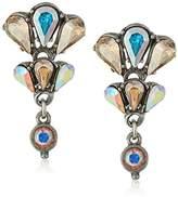 Ben-Amun Jewelry Swarovski Crystal Amore Cascading Drop Earrings for Bridal Wedding Anniversary
