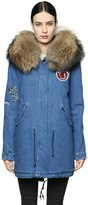 Mr & Mrs Italy Mr&mrs Italy Embroidered Denim Parka W/ Fur Trim