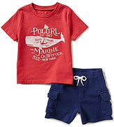 Ralph Lauren Baby Boys 3-24 Months Nautical-Inspired Graphic Tee & Cargo Shorts Set