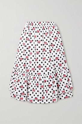 COMME DES GARÇONS GIRL + Disney Ruffled Printed Cotton-poplin Skirt - White