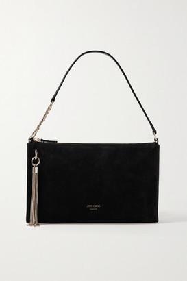 Jimmy Choo Callie Mini Tasseled Suede Shoulder Bag - Black