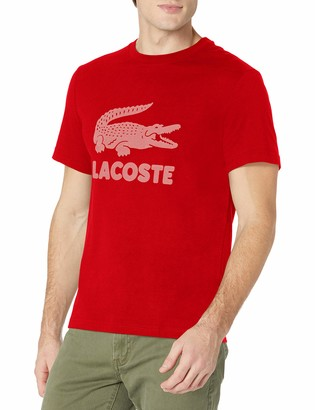 Lacoste Men's Short Sleeve Flocked Graphic Croc T-Shirt
