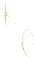 Mizuki 14K Yellow Gold & 0.34 Total Ct. Diamond Long Starburst Earrings