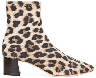 Loeffler Randall Tahlia Leopard-Print Suede Ankle Boots