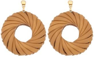 Bottega Veneta 18kt Gold-Plated Leather Earrings