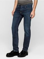 Calvin Klein Mens Straight Leg True Dark Jeans