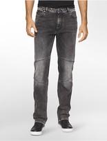 Calvin Klein Slim Straight Capri Moto Jeans