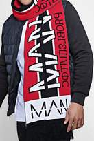 boohoo Oversized MAN Football Scarf