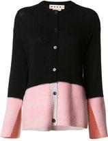 Marni distressed colour block cardigan