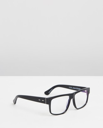 Caddis Black Square - Mister Cartoon Optical Glasses - Blue Light Lenses - Size +0.00 at The Iconic
