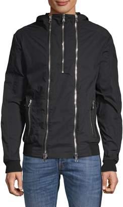 Balmain Hooded Zipper Jacket