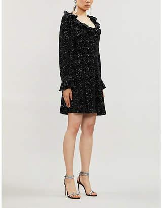 Olivia Rubin Eliza relaxed-fit velvet mini dress