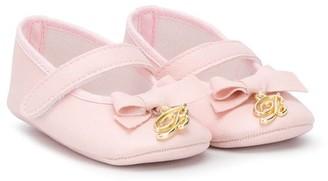 Miss Blumarine Bow-Detail Ballerinas