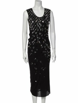 Lanvin Scoop Neck Long Dress Black