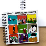 STUDY Two Little Boys How To Survive A Zombie Apocalypse Funny Notebook