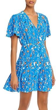Equipment Lisle Floral Print Silk Dress
