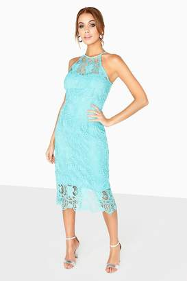 Paper Dolls Provence Crochet Lace Halter Dress