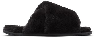 Sorel Go Mail Run Faux Fur Suede Slippers