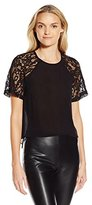 French Connection Women's Taza Lace Top