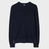 Paul Smith Men's Navy Cotton-Blend Textured-Knit Sweater