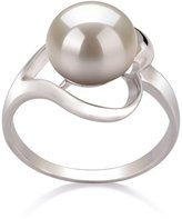 PearlsOnly 9-10mm AA Quality Freshwater 925 Sterling Silver Cultured Pearl Ring - Size-5